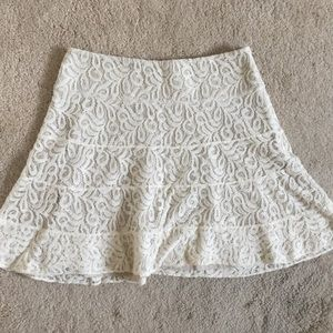 Express White Lace Skirt